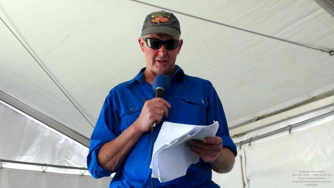 David Scholz Introduces the Eudunda 150th Celebrations at the Eudunda Show 2019