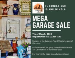 Last Chance To Register Mega Garage Sale – Eudunda – 7th March 2020