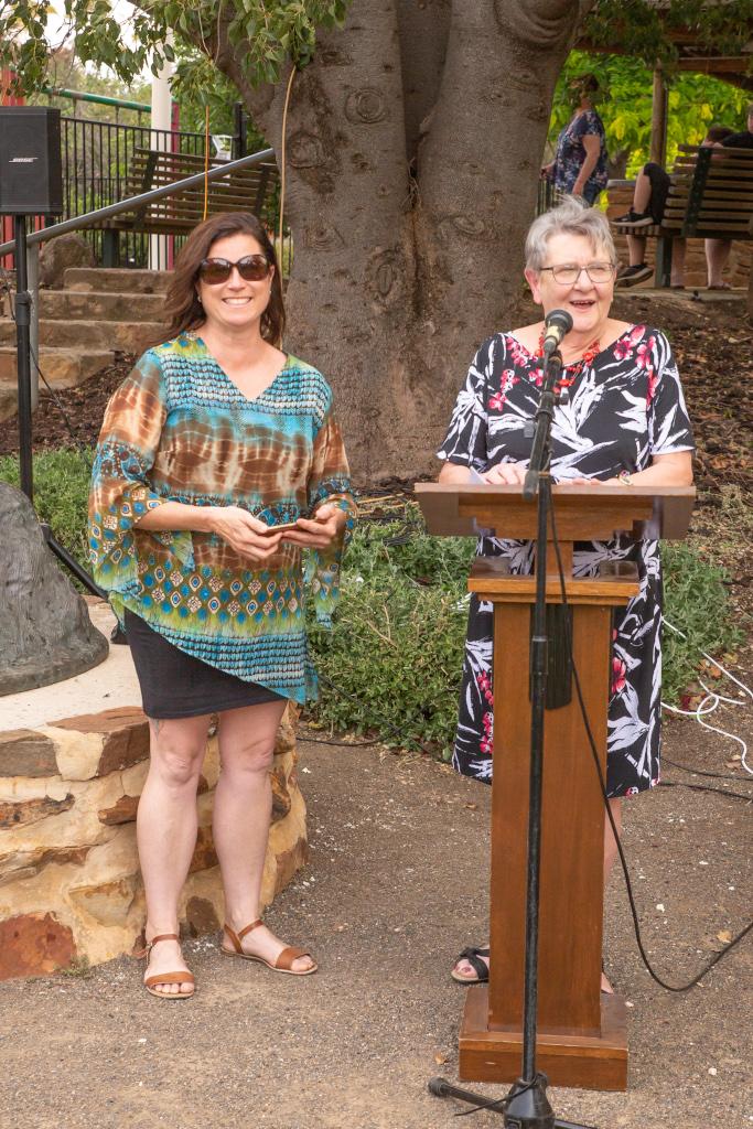 Colin Thiele 100th - Debbie Hibbert & Margaret Doecke - Photo by Robyn Bradbrook