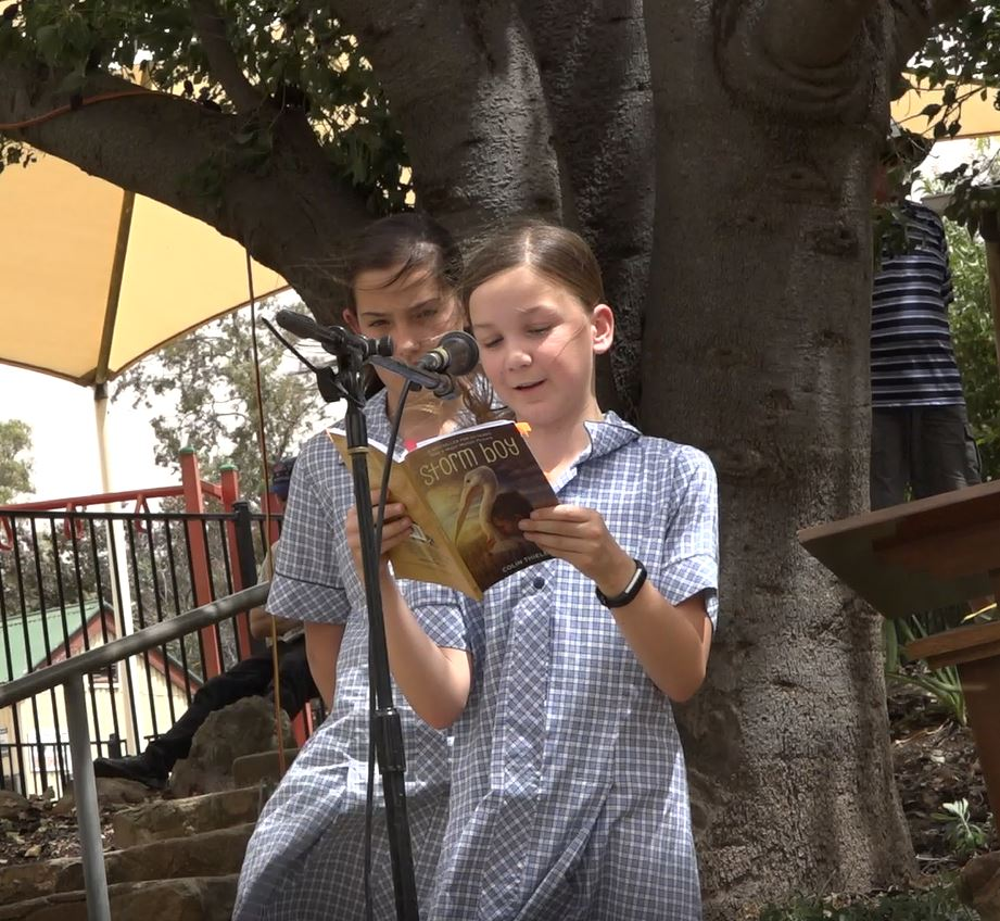 Colin Thiele 100th - Lucy Mosey reading Storm Boy - photo Peter Herriman